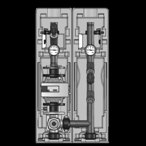Насосная группа V-MK/99 трехходовой смеситель, без насоса, Ду 32