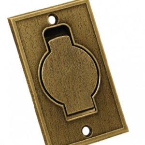 Пневморозетка напольная металлическая (бронза)