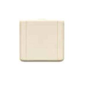 Пневморозетка настенная пластиковая квадратная Евро (сл.кость)