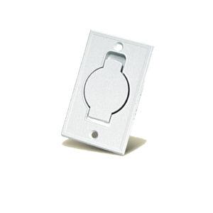 Пневморозетка напольная металлическая (белая)