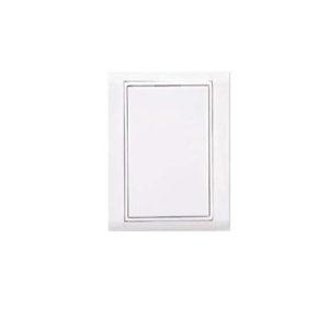 Пневморозетка настенная пластиковая  прямоугольная Евро(белая)