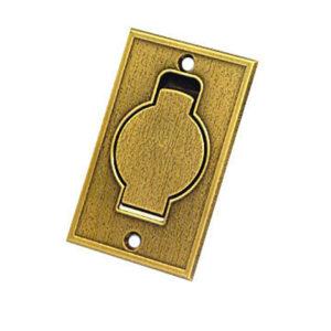 Пневморозетка напольная металлическая (латунь)
